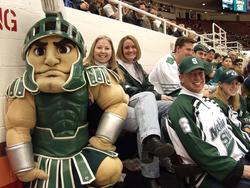 CCHA Sparty pose
