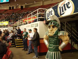 CCHA Sparty stand