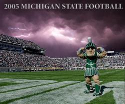 Sparty Football background