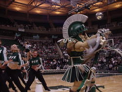 Sparty in motion