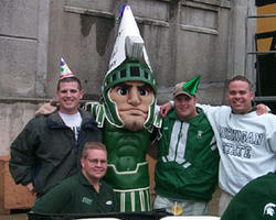 Sparty Squad at Sparty's 10th Birthday Party.  1999