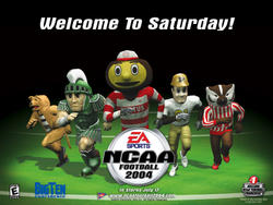 Different Screenshots from EA NCAA Games